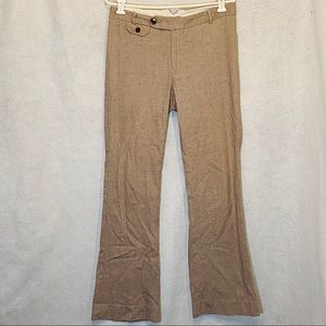 Gap 8 Pants Brown Solid Bootcut Stretch Cotton